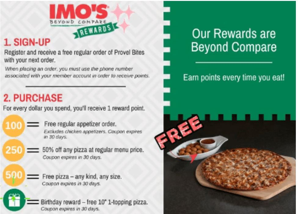 photograph regarding Imos Coupons Printable titled Imos Pizza Positive aspects ~ No cost Appetizer, Pizza Birthday