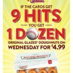 St. Louis Cardinals Krispy Kreme Promotion – 9 Hits on Tuesday Gets You 1 Dozen Doughnuts for $4.99
