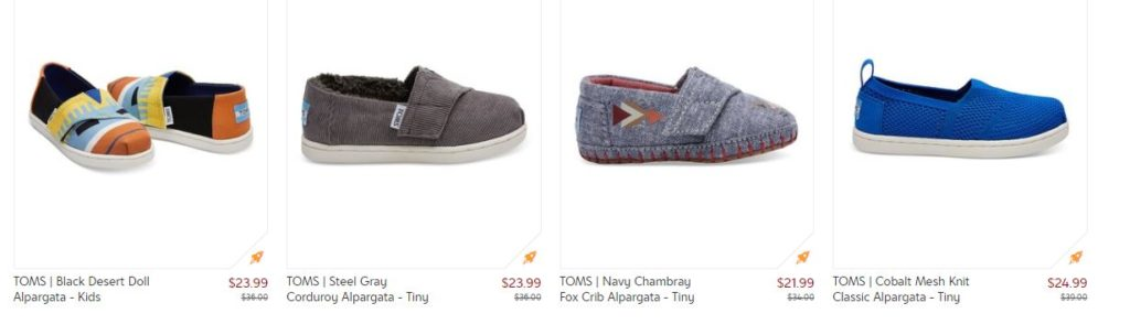 86b318669e03be Hurry over to check out this TOMS sale with prices up to 40% off! I love  the Tiny Toms on sale starting at  21.99! Find deals for the entire family  in this ...