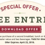 Mimi's Cafe – Free Entree With Purchase