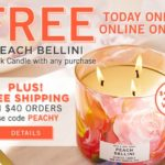 Bath & Body Works – FREE Peach Bellini 3-Wick Candle With Purchase