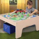 Wooden Activity Table with 45-Piece Train Set with Storage Bin $45.20 Shipped (Retail $69.97)