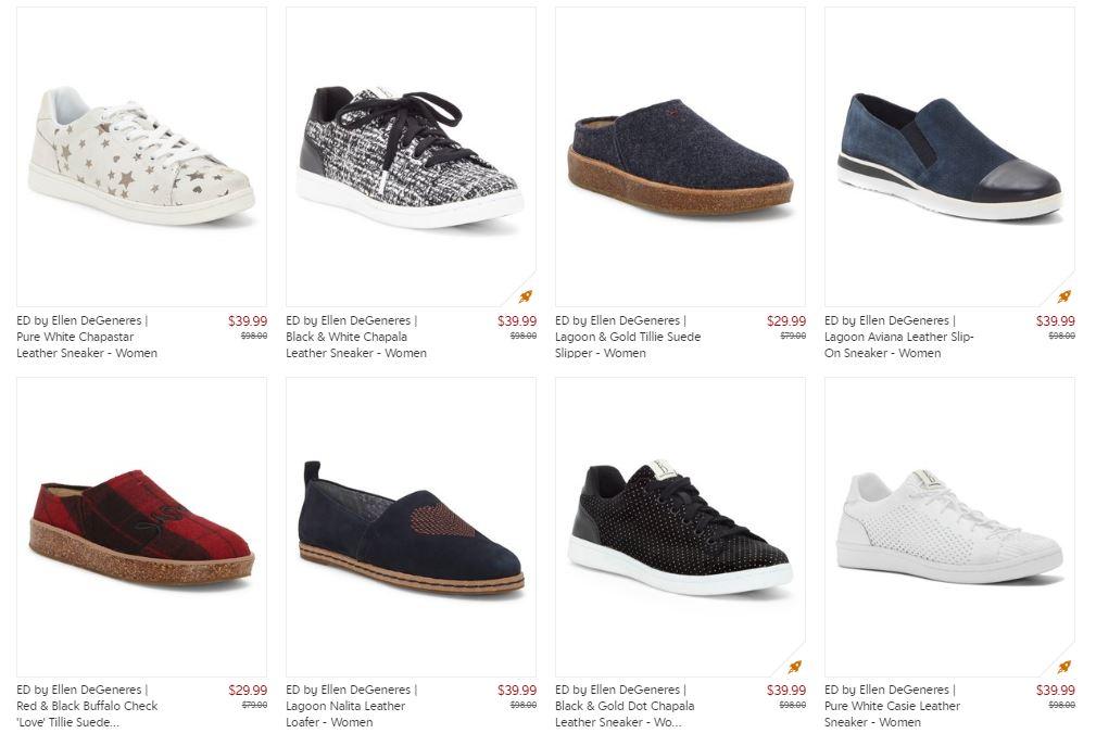 Ellen DeGeneres: Footwear Sale ~ Prices