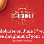Krispy Kreme – FREE Doughnut June 1st