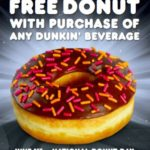 Dunkin Donuts FREE Classic Donut With Beverage Purchase June 1st