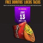 Taco Bell – Free Doritos Locos Taco June 13th