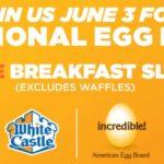 White Castle FREE Breakfast Slider June 3rd