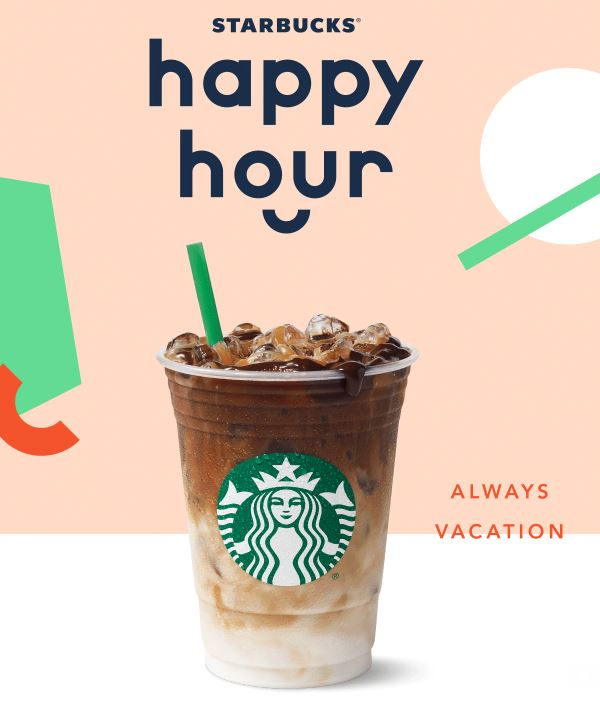 Starbucks Happy Hour July 6th - Buy One Get One FREE