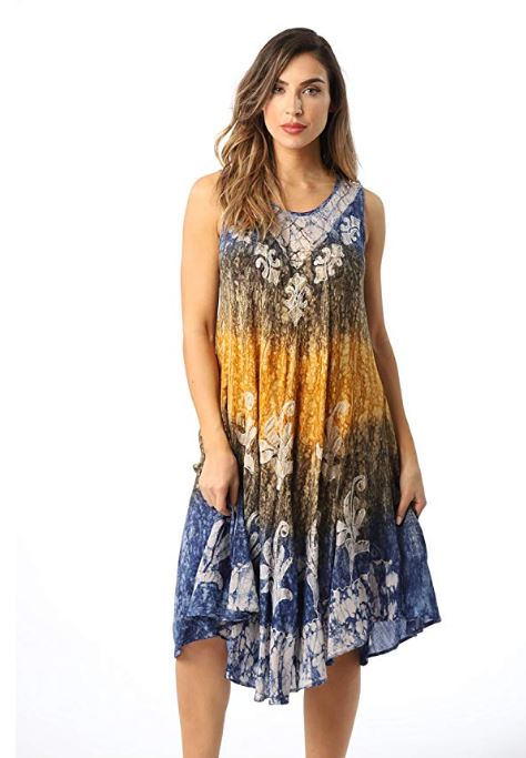 d595b76a16 For example this Riviera Sun Batik Marble Tie Dye Summer Dress Beach Cover  up is on sale for just $14.99!