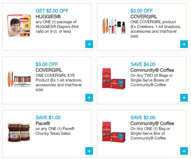 picture relating to Printable Community Coffee Coupons named Fresh new Printable Discount codes - Huggies, CoverGirl, Keebler