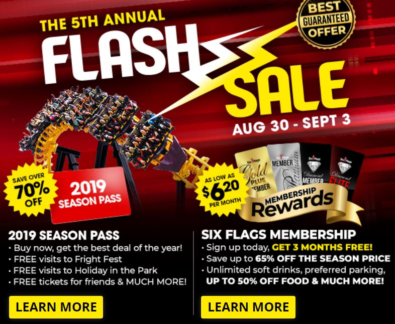 Six Flags St  Louis Over 70% Off 2019 Season Pass Flash Sale - STL Mommy