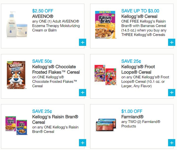 photo about Printable Cereal Coupons known as Refreshing Printable Discount coupons - Kelloggs Cereal, Campbells, Aveeno