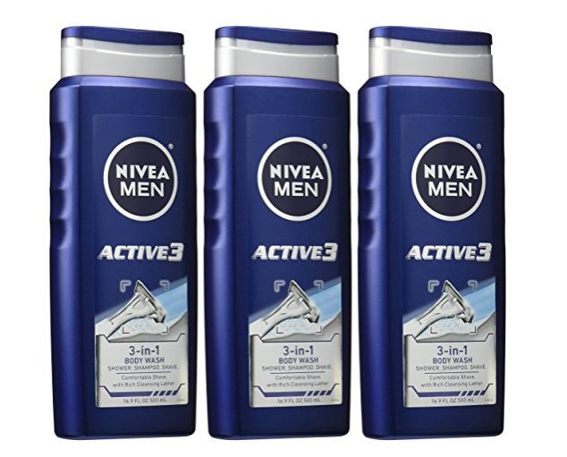 photo regarding 3.00 Off Nivea Printable Coupon named NIVEA Gentlemen 3-in just-1 Shower and Shave Overall body Clean 3-Pack $8.08