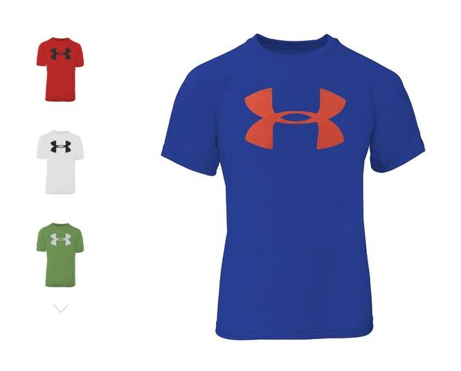85b02afde Check out this hot Buy One Get One Free offer! Get TWO Under Armour Boys'  Big Logo T-Shirts for just $14 Shipped! You will need to add TWO to your  cart ...