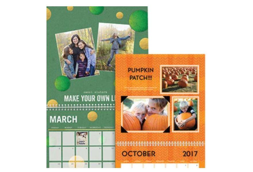 Shutterfly Free 12 Month 8 11 Wall Calendar Or Easel Calendar Stl