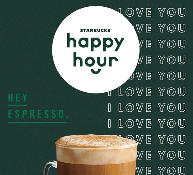 Starbucks Happy Hour ~ 50% off any Latte or Macchiato