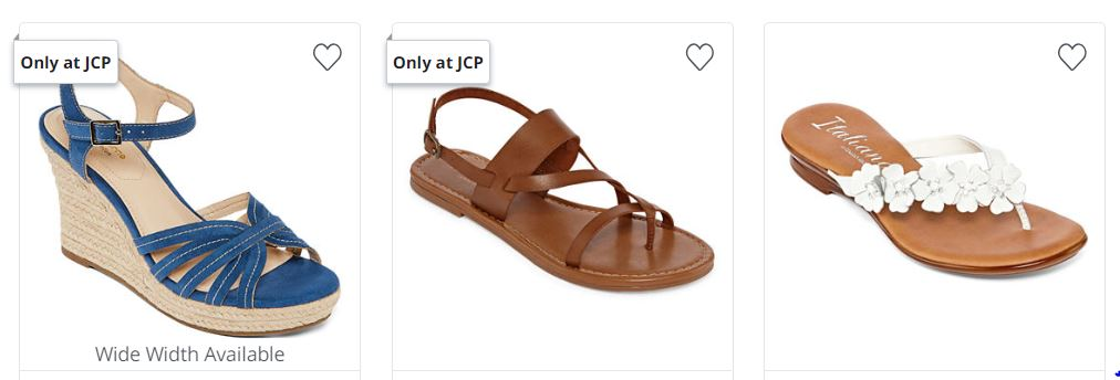 a1671985a2cb Head over to JCPenney where right now Women s Sandals are on sale Buy 1 Get  2 FREE! Prices start at  40 so that s like getting 3 pairs for just  13.33  each!