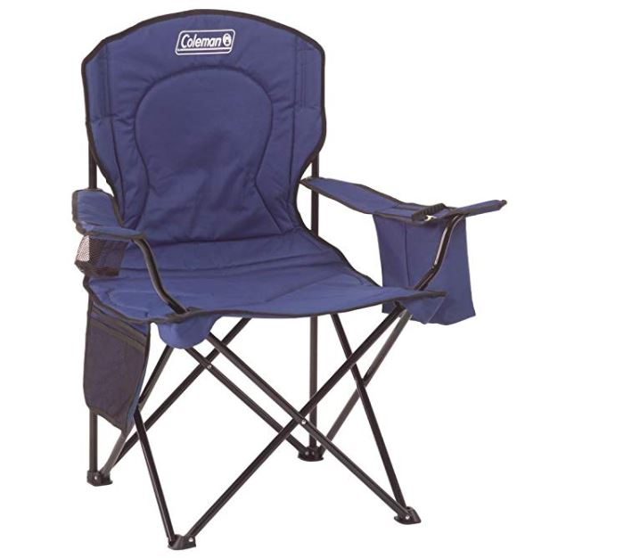 Coleman Portable Camping Quad Chair With 4 Can Cooler 19