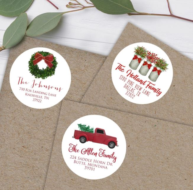 Holiday Address Labels (Set Of 40) $6.87 (Retail $12.95